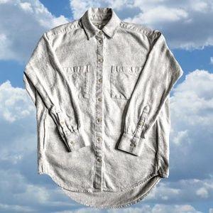 Madewell Grey Flannel Shirt